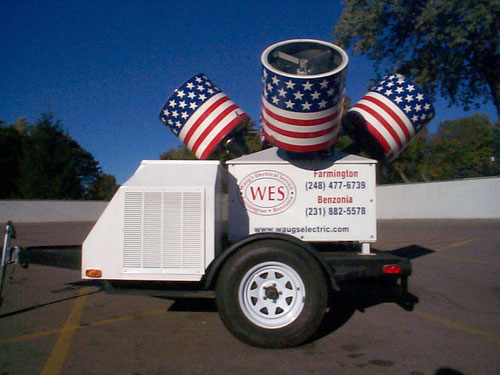 Waug's Electric Service Searchlight
